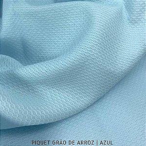 Piquet Grão de Arroz Azul 50cmx1,45m