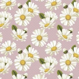 Tricoline Daisy com Póa Rose 50cm x 1.50m largura
