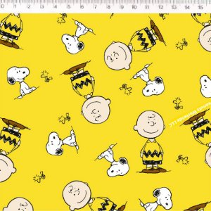 Tricoline Snoopy e Charlie Brown 50cm x 1.50m