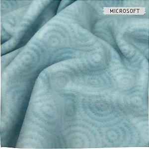 Microsoft Estampado Caracol Azul 50cmX1,60m