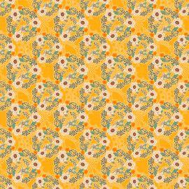 Tricoline Contemporâneo Flores 50cm x 1.50m largura
