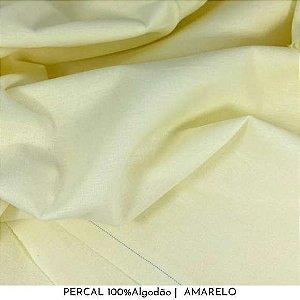 Percal Amarelo 100% Algodão 50cm X 2,50m de largura