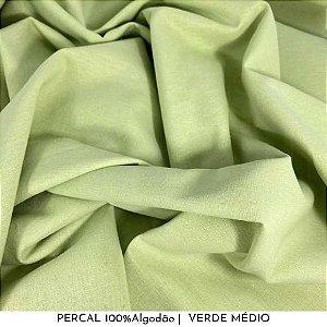 Percal Verde Médio 100% Algodão 50cm X 2,50m de largura
