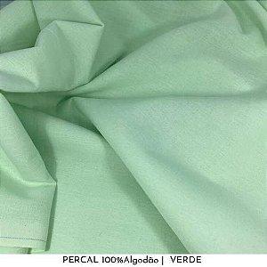 Percal Verde 100% Algodão 50cm X 2,50m de largura