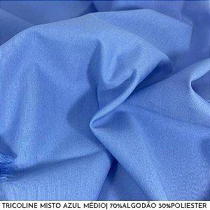Tricoline Misto Azul Médio 50cm x 1,50m