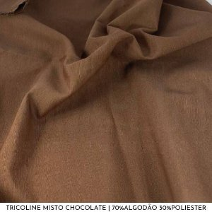 Tricoline Misto Chocolate 50cm x 1,50m