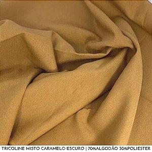 Tricoline Misto Caramelo Escuro 50cm x 1,50m
