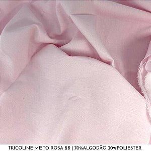 Tricoline Misto Rosa bb 50cm x 1,50m