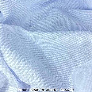Piquet Grão de Arroz Branco 50cmx1,45m