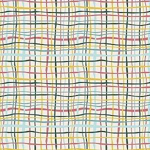 Tricoline Xadrez Colorido 50cm x 1.50m largura