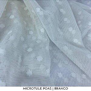 Microtule Poas Branco 50cm x 1,50m