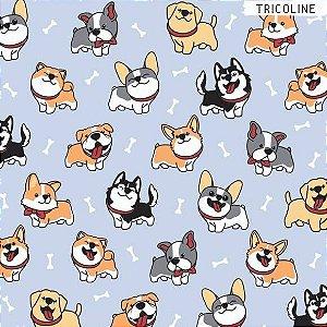 Tricoline Cachorros 50cm x 1.50m largura
