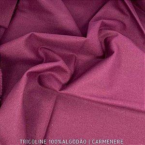 Tricoline Liso 100% Algodão Carmenere 50cm x 1,50m