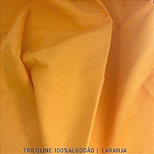 Tricoline Liso 100% Algodão Laranja 50cm x 1,50m