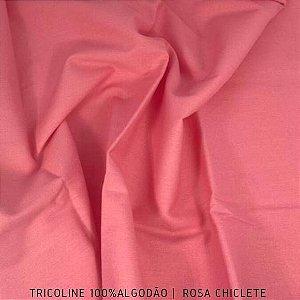 Tricoline Liso 100% Algodão Rosa Chiclete 50cm x 1,50m