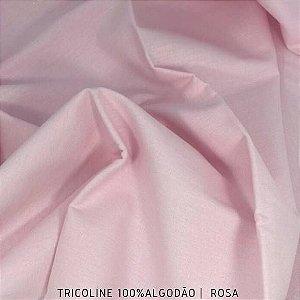 Tricoline Liso 100% Algodão Rosa 50cm x 1,50m