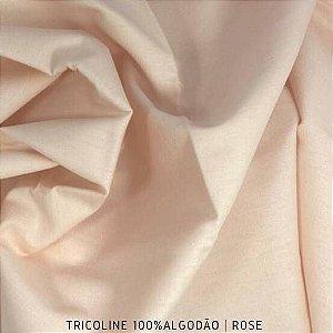 Tricoline Liso 100% Algodão Rose 50cm x 1,50m