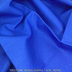 Tricoline Liso 100% Algodão Azul Royal 50cm x 1,50m