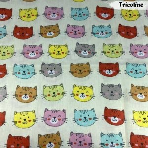 Tricoline Cat Lovers 50cm x 1,50m Largura