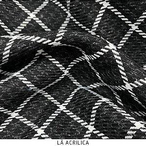 Tecido Lã Acrílica Quadrado Menor  50cmx1,50m largura