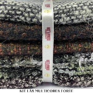 Kit Tecido Lã Multicores Forte 7 tecidos 30cm x 70cm casa