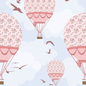 Papel de Parede Adesivo Balões Ilustra