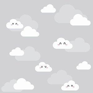 Papel de Parede Adesivo Nuvens Clean
