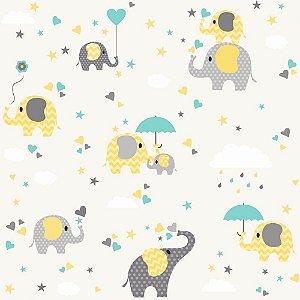Papel de Parede Adesivo Elefante