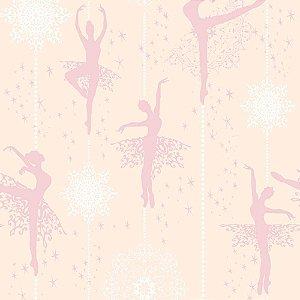 Papel de Parede Adesivo Bailarina Star Delicada