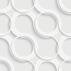 Papel de Parede Adesivo Circles Clean