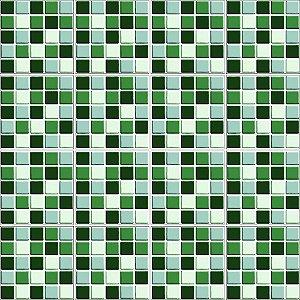 Adesivo de Azulejo Pastilhas 3D Verde