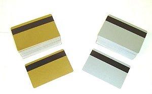 Cartão PVC Ouro/Prata Com TM Para Crachá