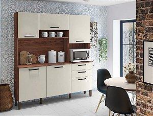 Armário de Cozinha Kit's Paraná Ferrara 1,80 - Nogueira/Off White