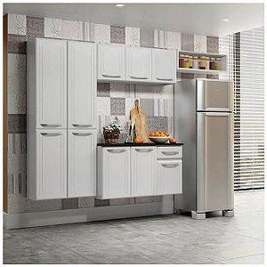 Armário De Cozinha Telasul Topazio Smart 4 Peças- Branco/Branco