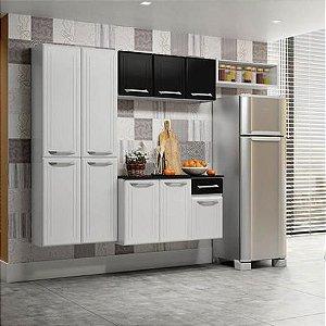 Armario de Cozinha Telasul Topazio Smart 4 peças-Branco/Preto