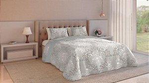 Jogo de cama Teka Diamante 4 peças 150 fios 220cm florata-Casal