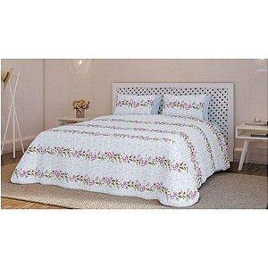 Jogo de cama Teka Diamante 4 peças 150 fios 270cm Liz-King
