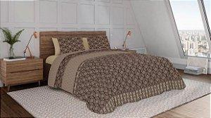 Jogo de cama Teka Diamante 3 peças 150 fios 160cm flora-Solteiro