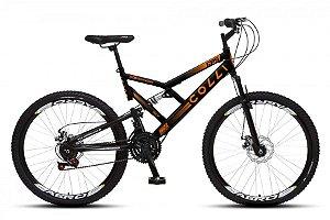 Bicicleta Colli GPS dupla suspensão 21m Aro 26 36R- Preto Fosco