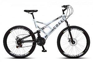 Bicicleta Colli GPS dupla suspensão 21m Aro 26 36R- Branco