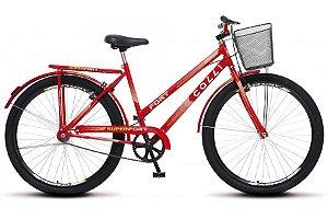 Bicicleta Colli Fort Aro 26 sem marcha 36R- Vermelho