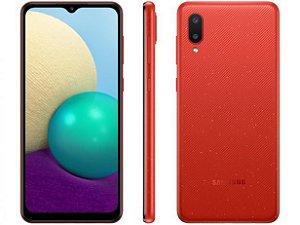 Smartphone Samsung  A02s 32GB 4G processador Quad core 2GB RAM Câmera Dupla- Vermelho