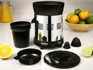 Espremedor de Frutas Mondial elétrico 250w  Inox/Preto 220v- E-10