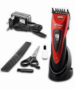 Cortador de cabelo Mondial CR-04 vermelho