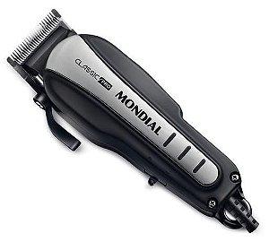 Cortador de cabelo Mondial CR-03 Preto Inox