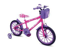 Bicicleta  Gool Bike Kid Alive Aro 16 infantil com rodinhas- Pink alok
