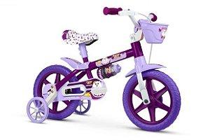 Bicicleta Nathor  Puppy  Infantil Aro 12 feminina- Vermelha/Amarelo