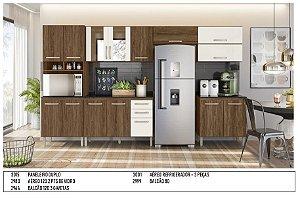 Armário de cozinha Nicioli Loá 7 peças- Evora