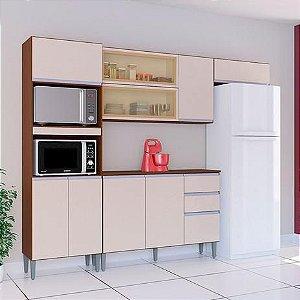 Armário de cozinha Poquema Aline- Cappucino/off white