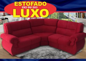 SOFA CANTO LUXO RICKSA MOVEIS 2X2 LUGARES